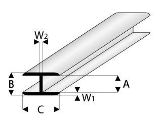 kunststoff verbindungs profile flach kunststoff profile. Black Bedroom Furniture Sets. Home Design Ideas