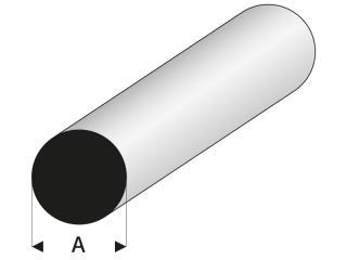 PVC Rundstab grau /Ø 50mm PVC-U Kunststoffstab auf Zuschnitt 7,5cm L: 75mm