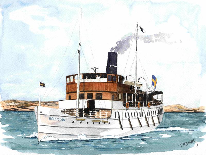 Bohuslan Dampfschiff 1 45 Bausatz Passagier Frachtschiffe